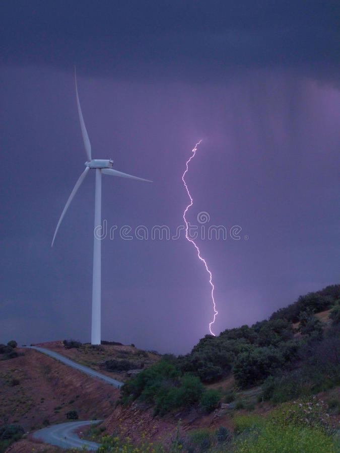 Молния шторма стоковые изображения