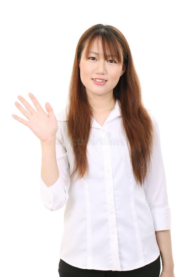 Молодая азиатская женщина дела стоковое фото