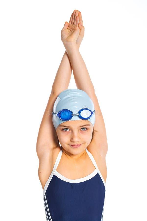 Молодая девушка пловца стоковое изображение rf
