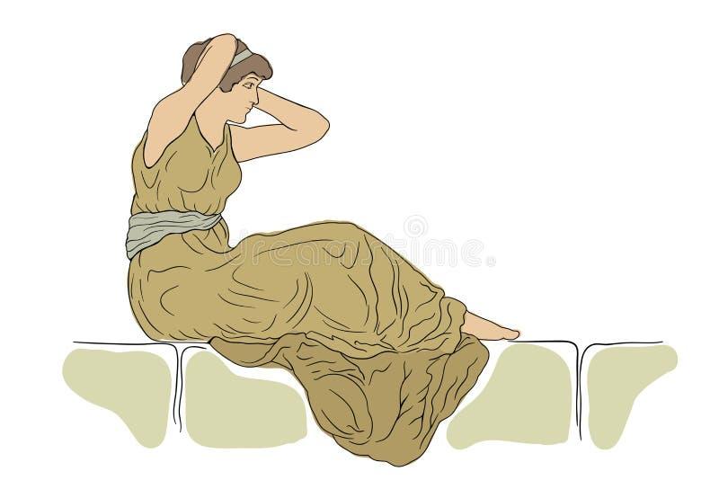 Молодая женщина иллюстрация вектора