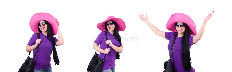 Молодая женщина готовая на летние каникулы стоковые изображения rf