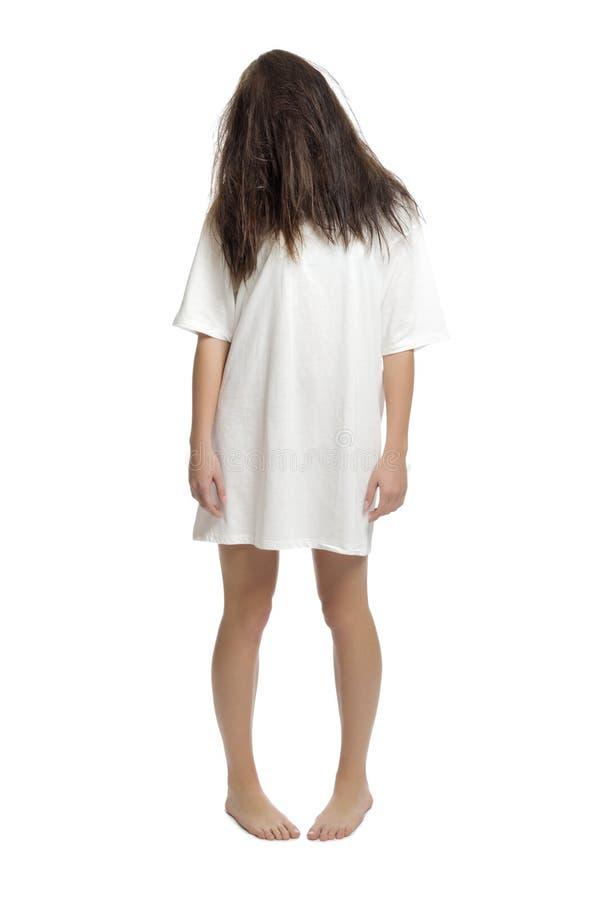 Молодая изолированная девушка зомби стоковое фото rf