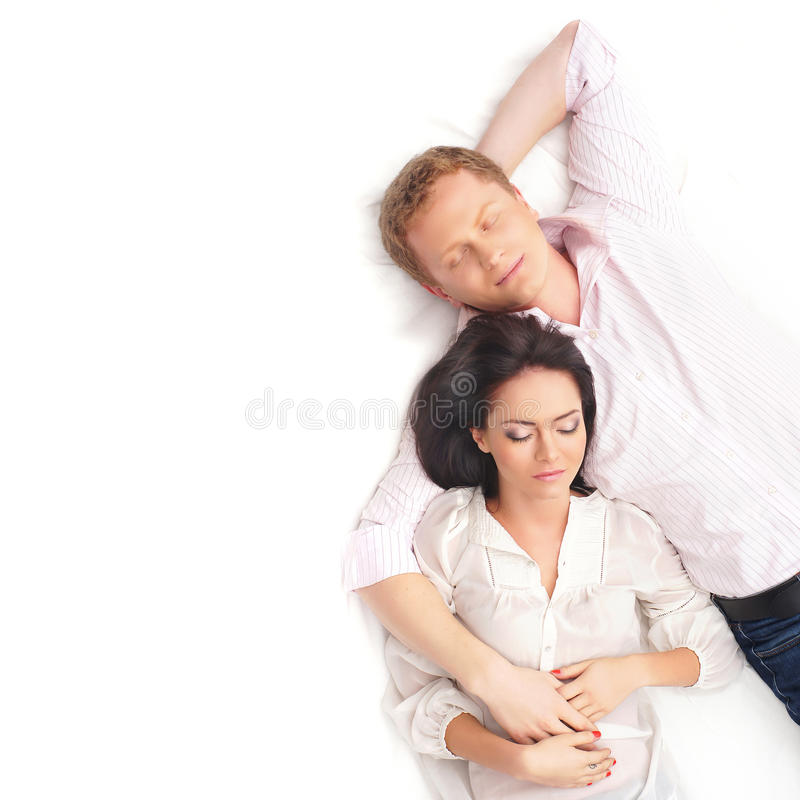 Молодая и симпатичная пара совместно стоковые фото