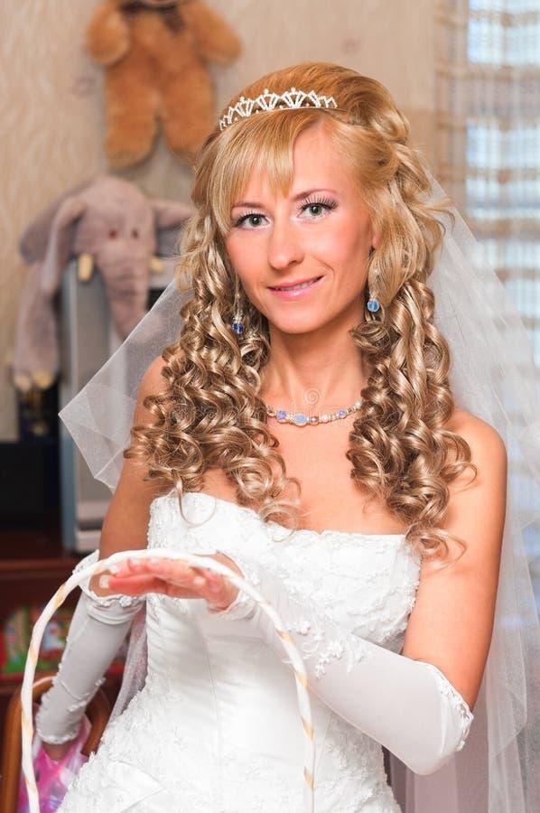 Молодая красивейшая невеста стоковое фото rf
