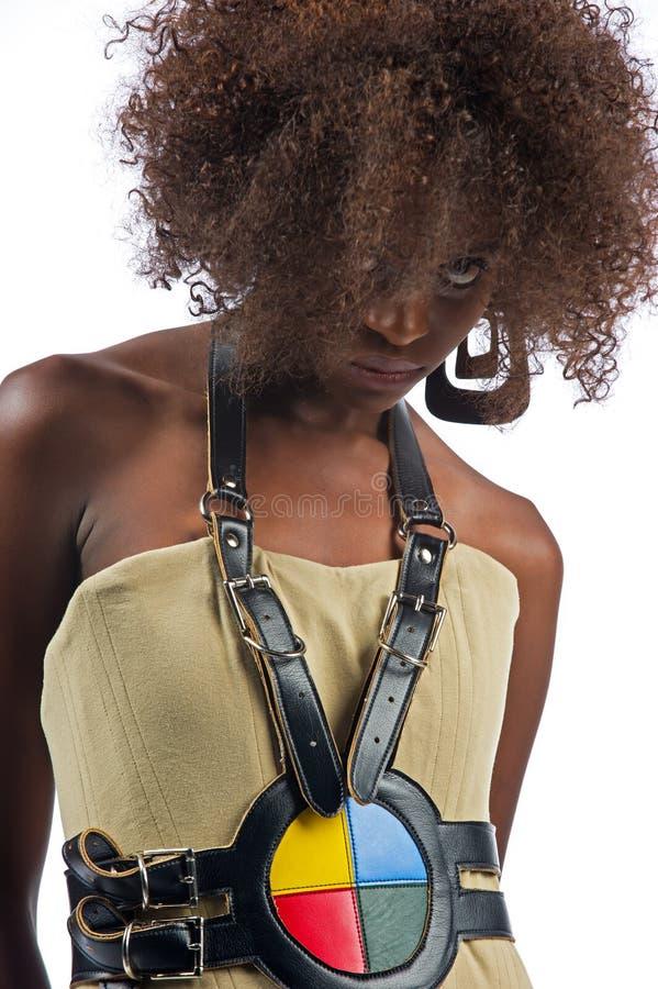 Молодая красивейшая чернокожая женщина стоковые фото
