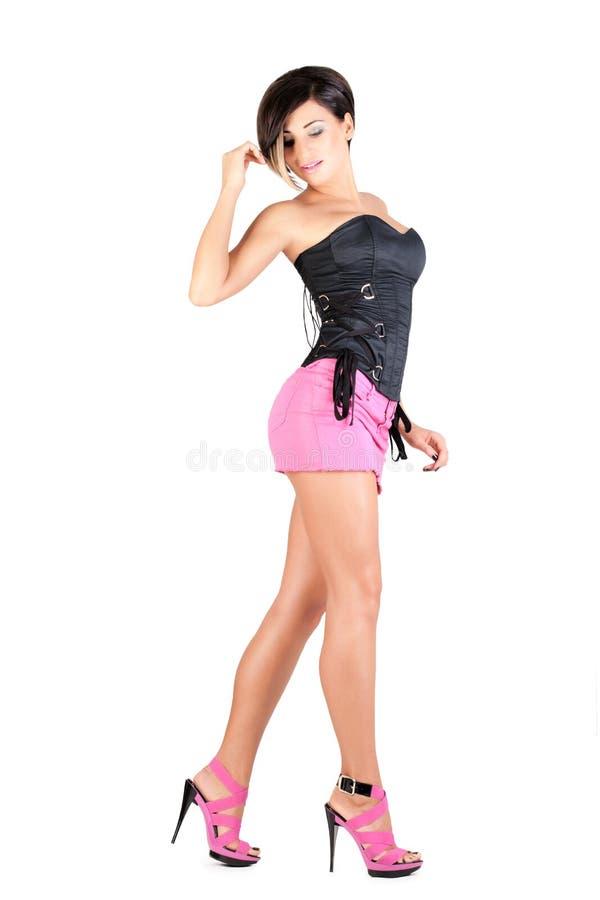 Молодая модель в сексуальном обмундировании стоковое изображение