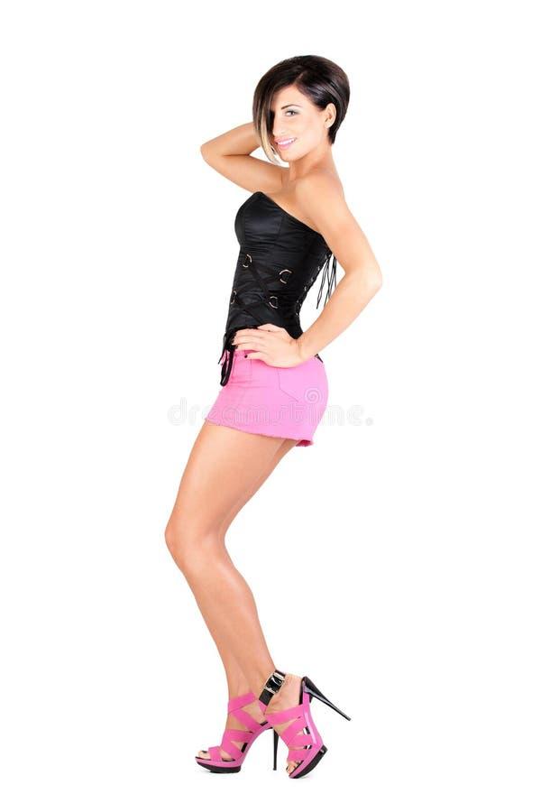 Молодая модель в сексуальном обмундировании стоковые изображения
