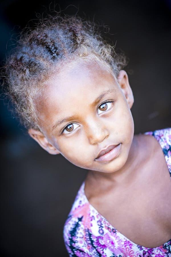 Молодая племенная Afar девушка, Эфиопия стоковая фотография