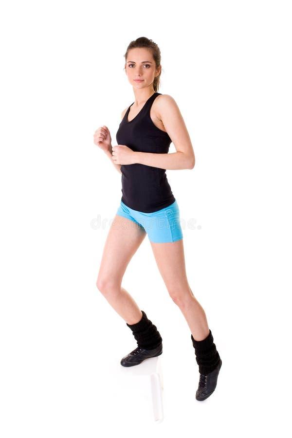 Молодая привлекательная женская изолированная тренировка, стоковое фото rf