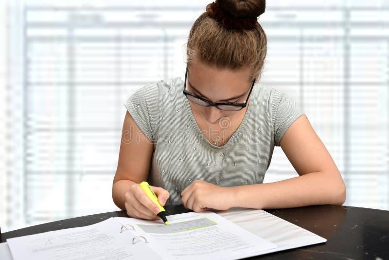 Молодая секретарша в офисе стоковое изображение rf