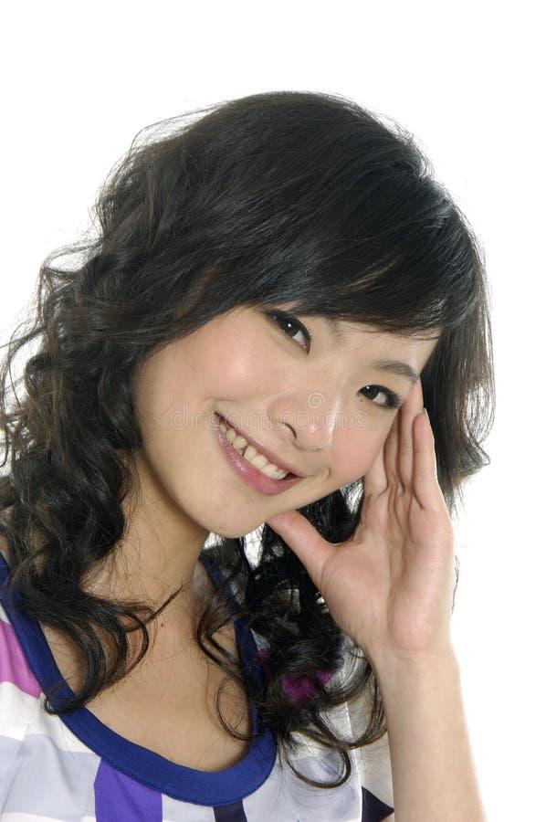 Молодая счастливая женщина стоковые изображения rf