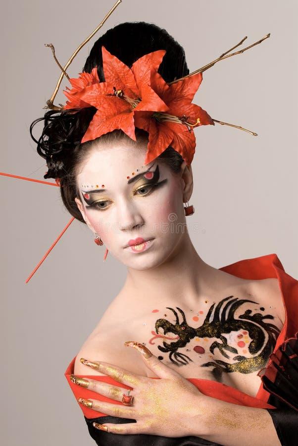 Молодая японская женщина стоковые изображения rf