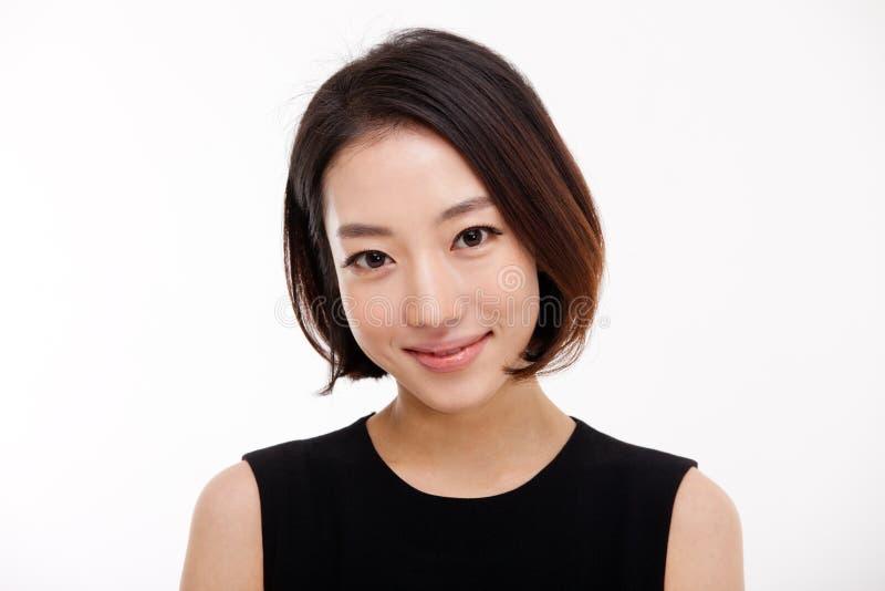 Молодой азиатский милый конец женщины дела вверх по портрету. стоковое фото rf