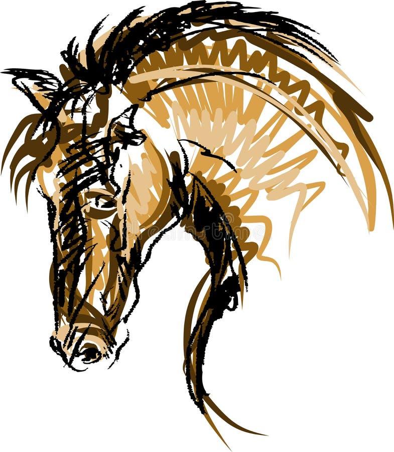 Молодой всадник выполняя скачку на лошади залива над барьером на скакать выставки бесплатная иллюстрация
