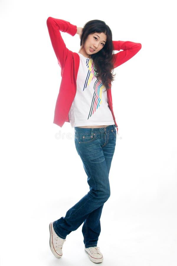 Молодой китайский представлять девушки стоковые изображения