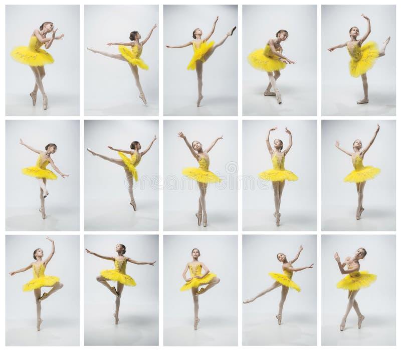 Молодой классический танцор на белой предпосылке стоковая фотография rf
