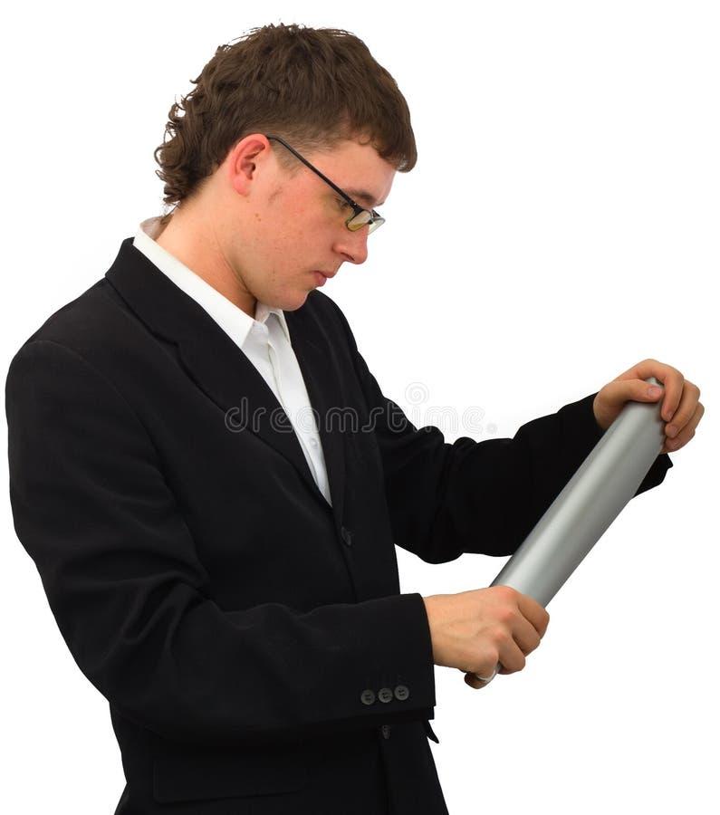 Молодой менеджер стоковые фотографии rf