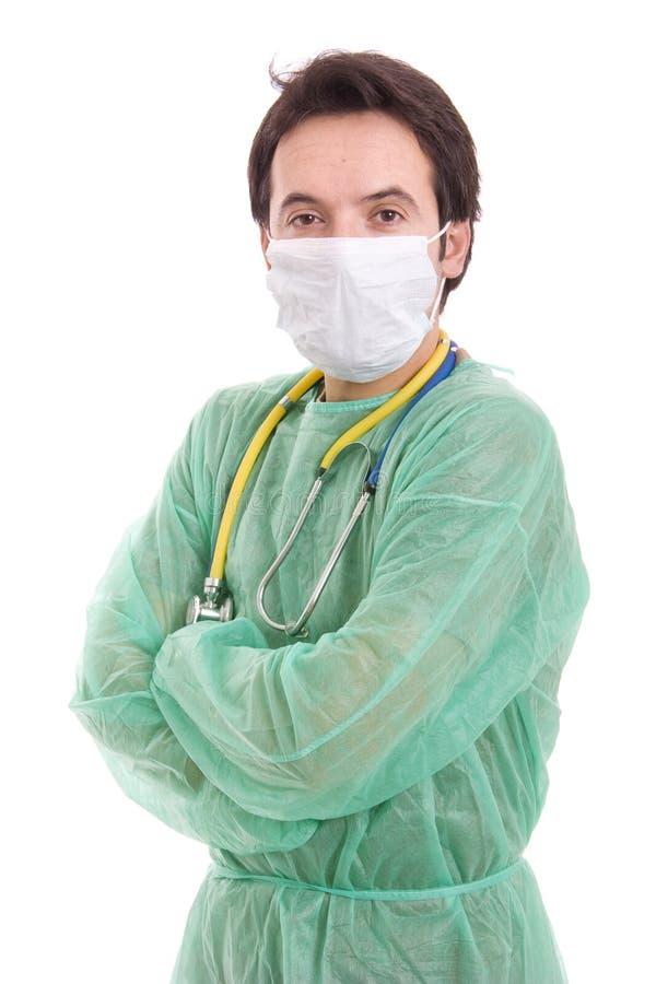 Молодой мыжской портрет доктора стоковое изображение rf