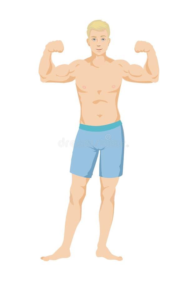 Молодой мышечный парень бесплатная иллюстрация