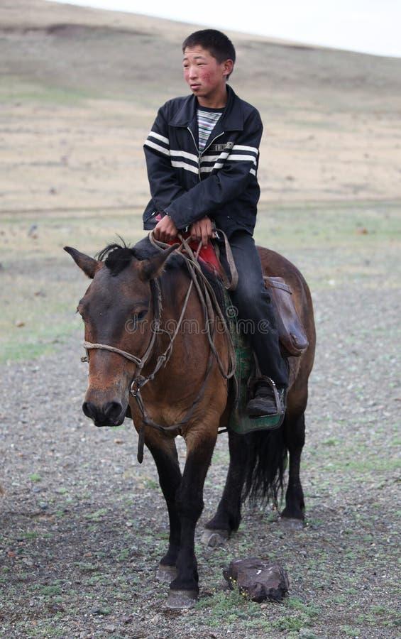 Молодой наездник стоковое изображение