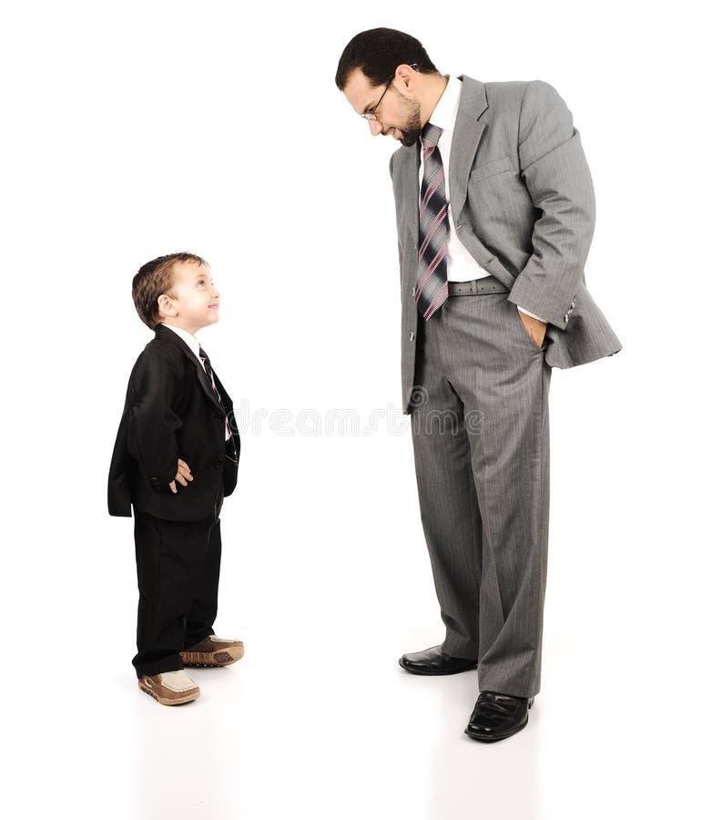 Молодой отец и его сынок стоковое изображение rf