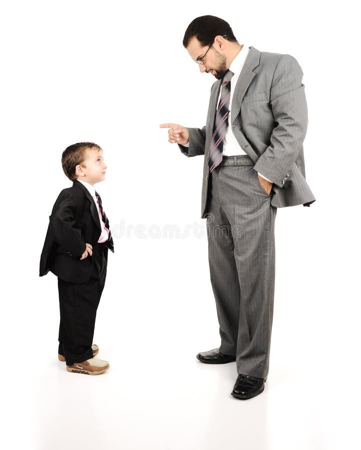 Молодой отец и его сынок стоковые фотографии rf