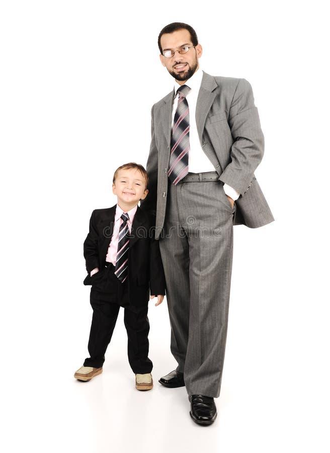 Молодой отец и его сынок стоковое фото