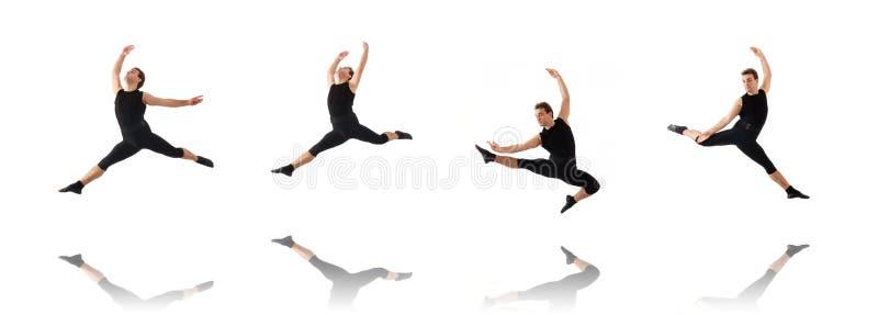 Молодой танцор изолированный на белизне стоковая фотография