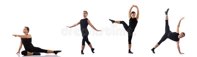 Молодой танцор изолированный на белизне стоковое изображение