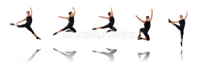 Молодой танцор изолированный на белизне стоковые изображения