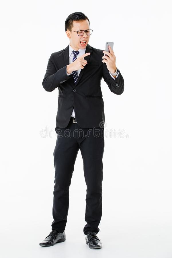 Молодой человек на изолированной белой предпосылке стоковое фото rf