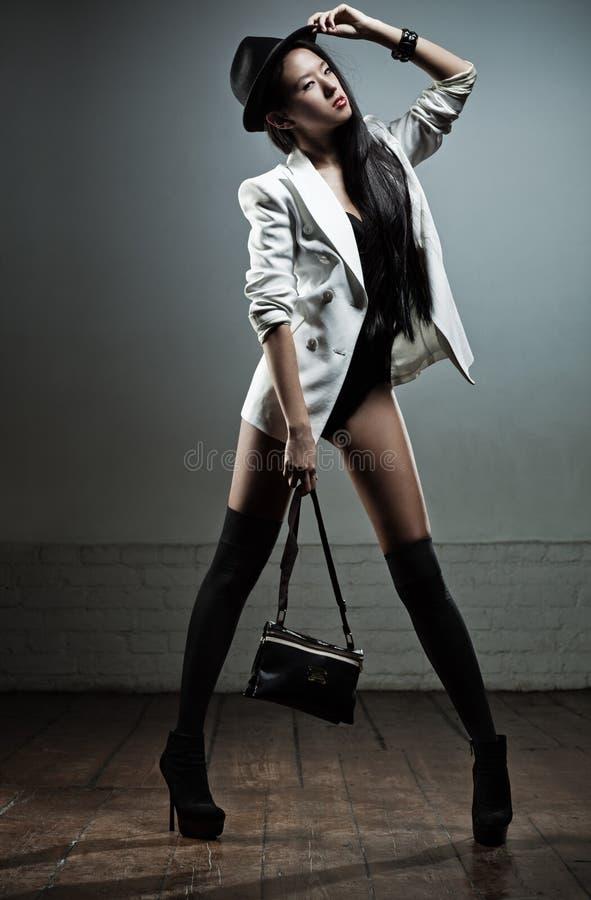 Молодой японский способ женщины стоковое фото rf