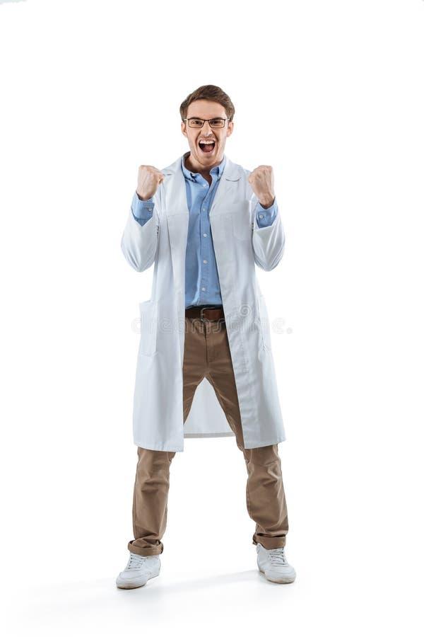 Молодой excited химик стоковые фото