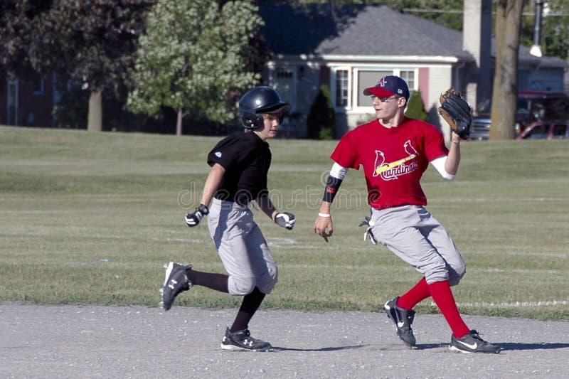 молодость бейсбола стоковые изображения