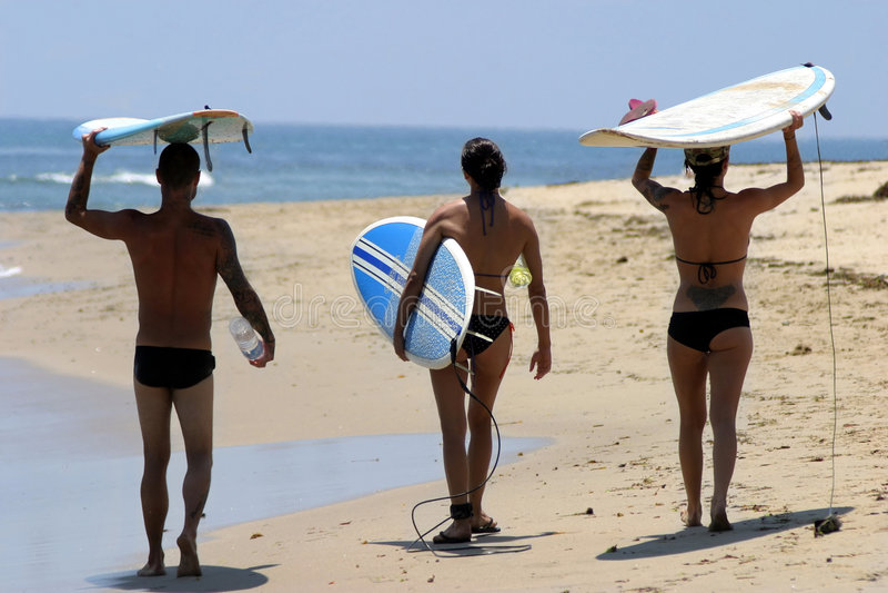 молодость california пляжа стоковые фотографии rf
