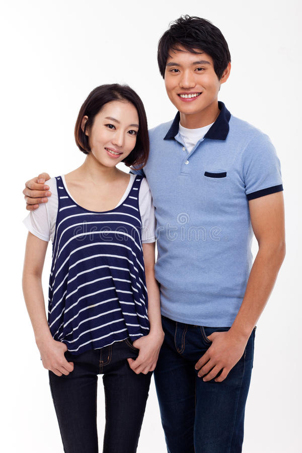 Молодые азиатские пары стоковая фотография