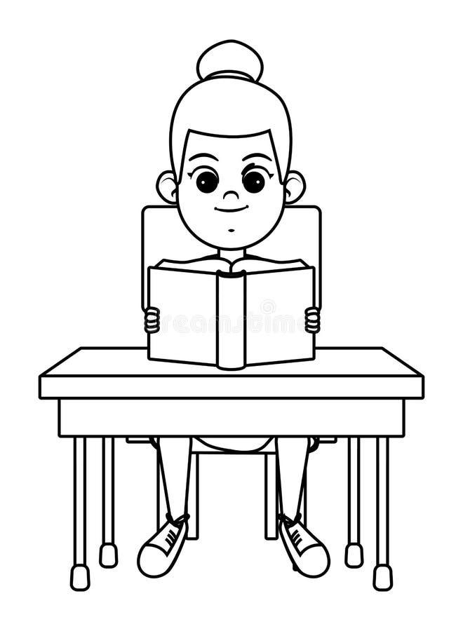 Молодые парни читая книгу черно-белую иллюстрация штока