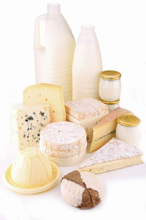 молокозавод изолировал продукты стоковое фото