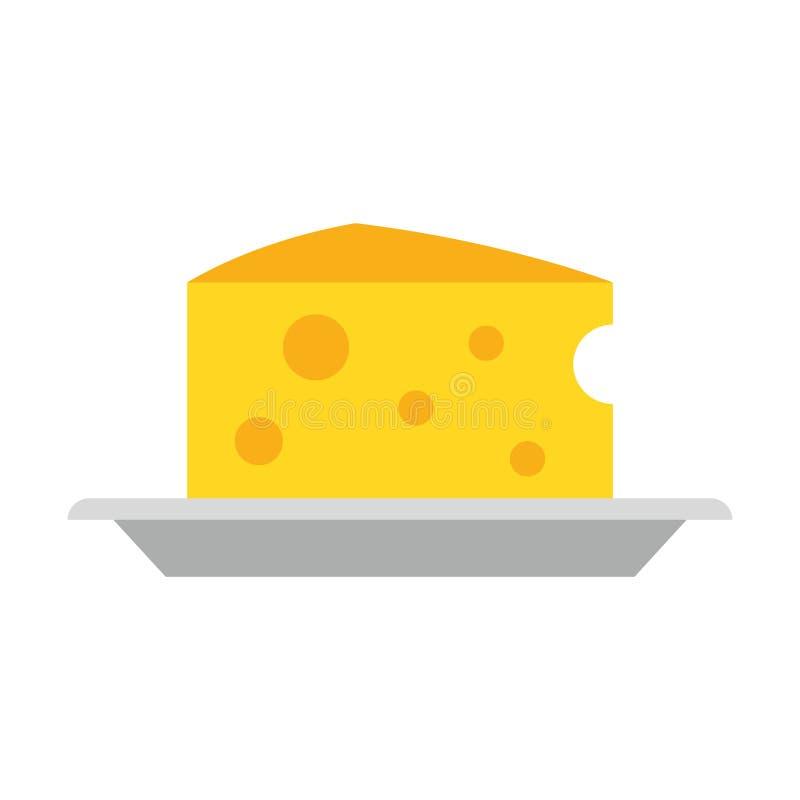 Молокозавод сыра на иллюстрации вектора еды блюда иллюстрация штока