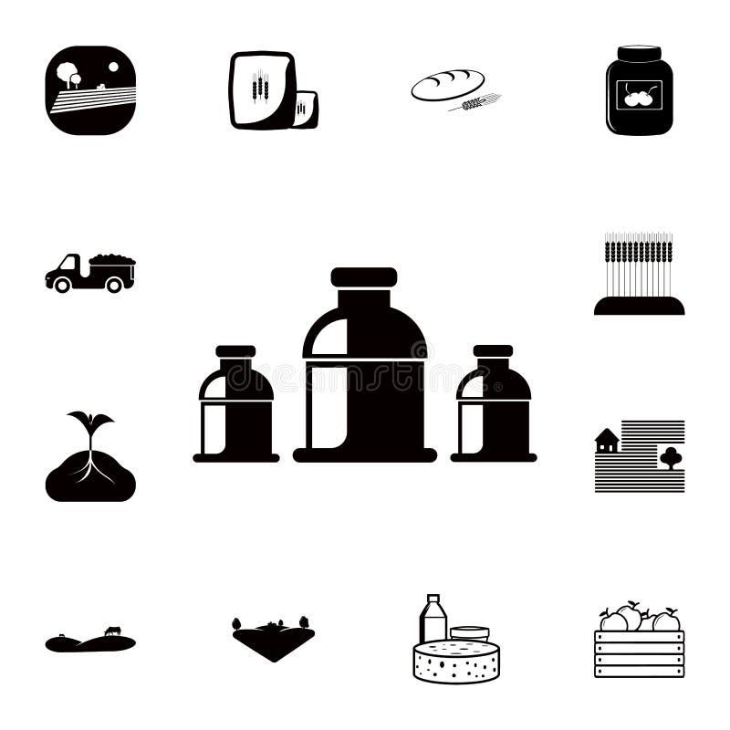молоко консервирует значок Детальный набор значков фермы Наградной качественный значок графического дизайна Один из значков собра иллюстрация вектора