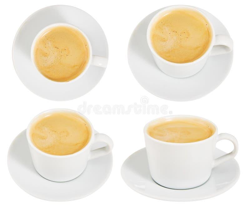 молоко кофе Комплект Кубок Поддерживая питье Утро завтрака изолировано конструируйте ваше стоковые изображения rf