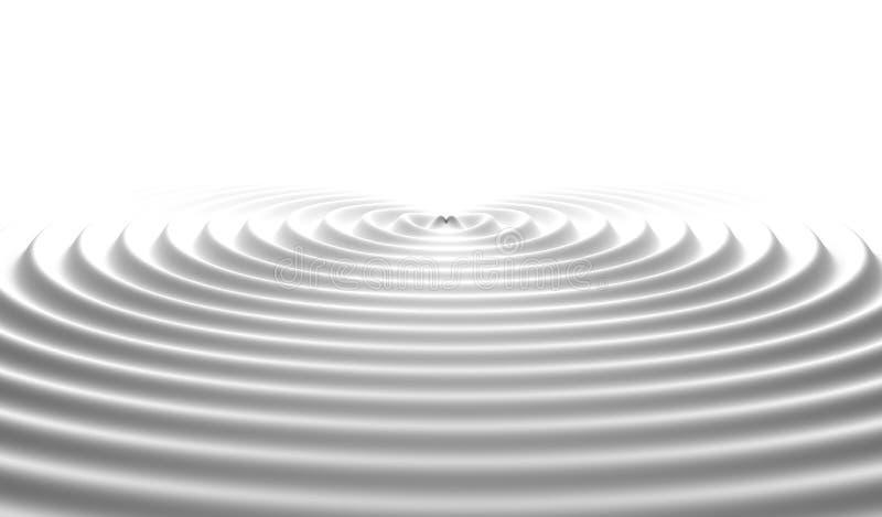 молоко Пульсации воды Цифровые данные и форма кругов сети иллюстрация штока