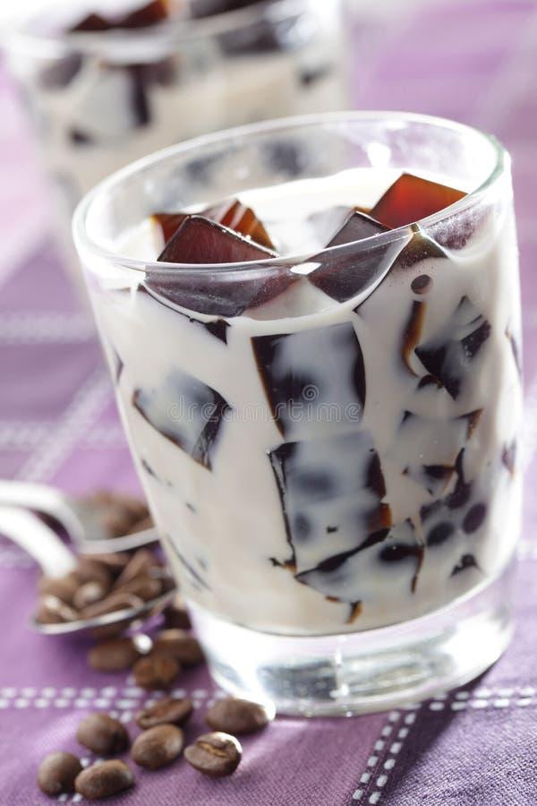 молоко студня кофе стоковые фото