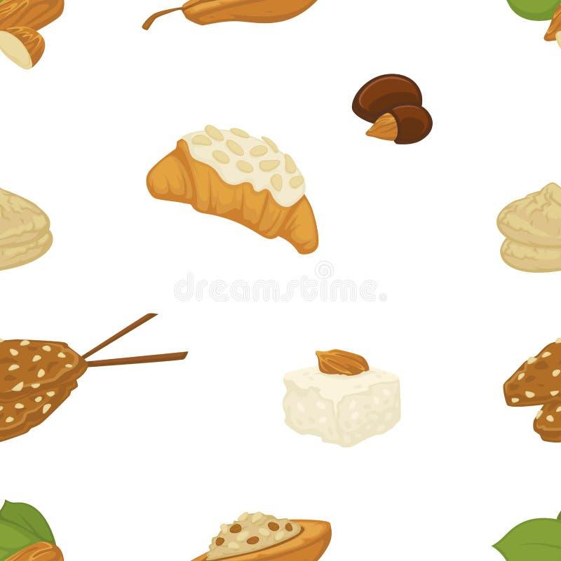 Молоко Vegan, молочные продучты и вектор еды помадок хлебопекарни иллюстрация вектора