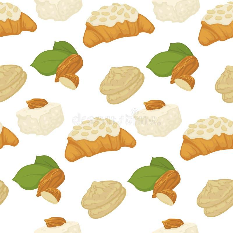 Молоко Vegan, молочные продучты и вектор еды помадок хлебопекарни иллюстрация штока