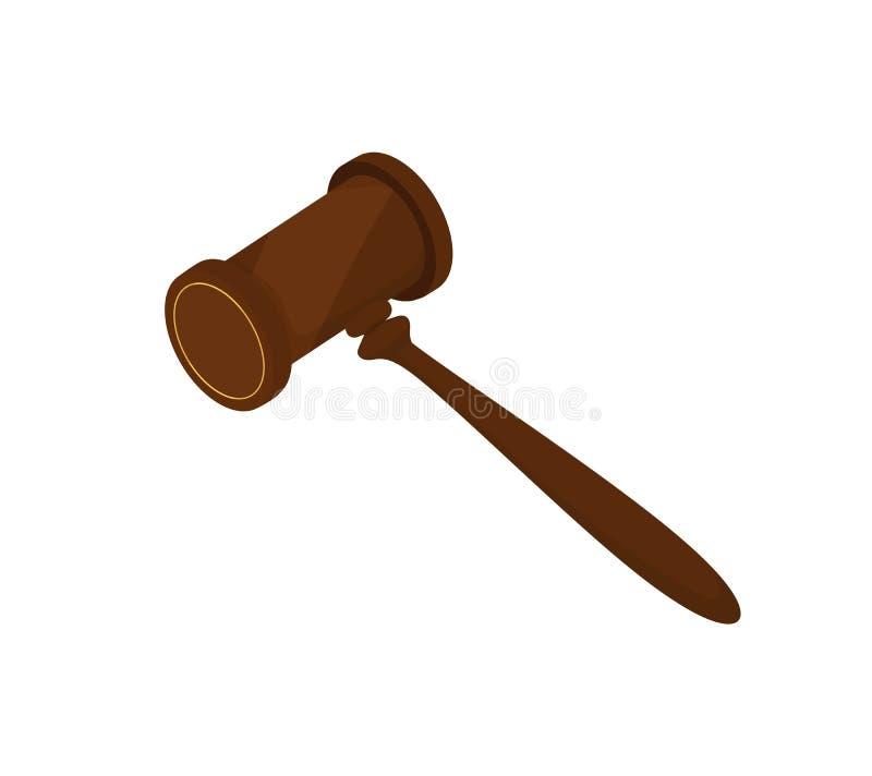 Молоток судьи иллюстрация штока