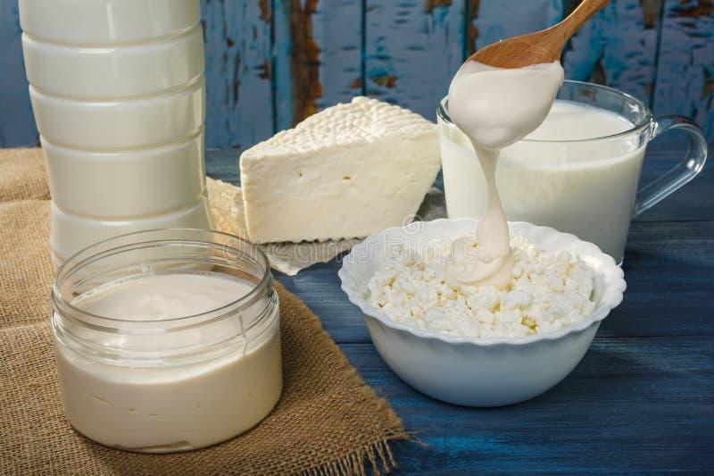 Молочные продучты фермы стоковые фотографии rf