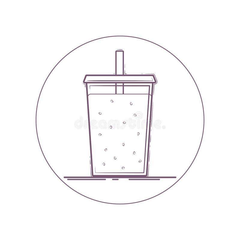 Молочный коктейль Smoothie свежий иллюстрация вектора