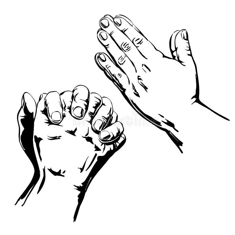 Моля руки иллюстрация штока