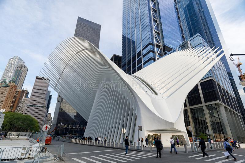 Мол всемирного торгового центра Westfield в более низком Манхаттане стоковое изображение rf